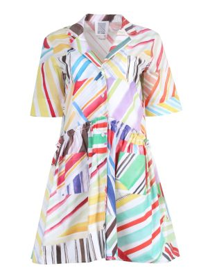 Short Gathered Shirtdress