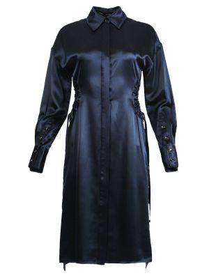 Satin Shirting Shirt Dress