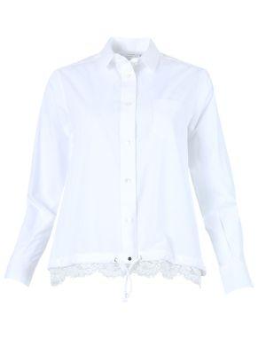 White Poplin Lace Shirt