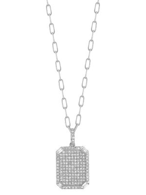 Diamond Pavé Id Pendant Necklace