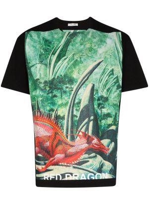 Dragon Garden Graphic Print T-shirt Multicolor