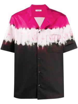 Dip Dye Print Short Sleeve Shirt