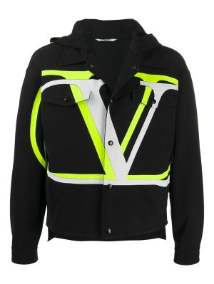 Logo Hooded Jacket, Black