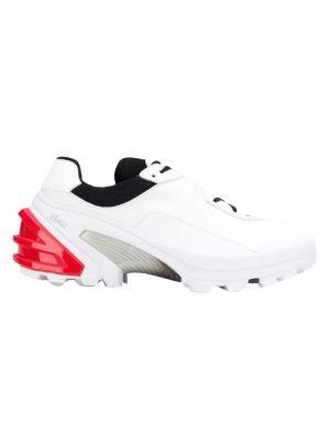 White Paneled Sneakers