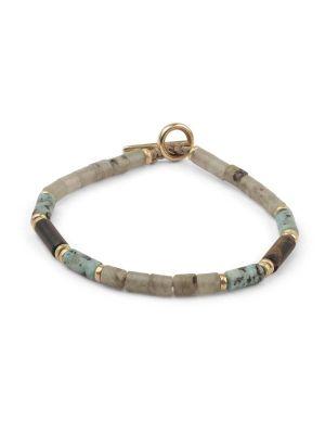 Grey And Turquoise Brace Bracelet