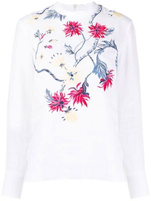Floral Embroidered Linen Top