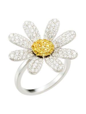 Yellow Sapphire & Diamond Margaret Ring
