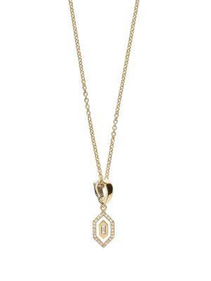 Small Diamond Enamel Necklace
