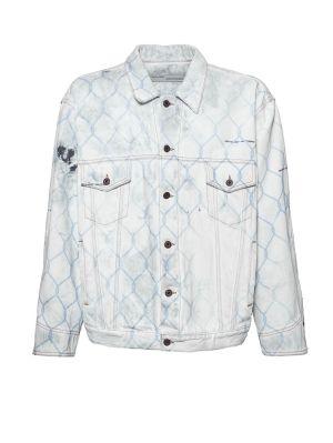 Distressed Fence Denim Jacket