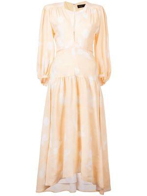 Rose Imprint Long Sleeve Dress