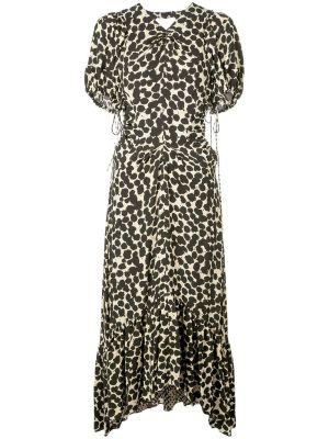 Ruched Cut-out Midi Dress