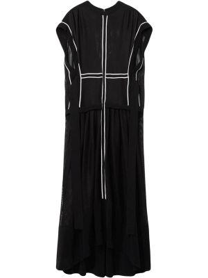Contrasting Trim Sheer Dress