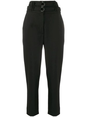 Belted High-waisted Pants