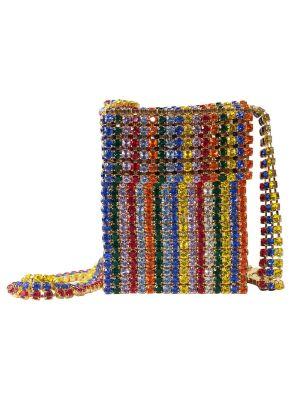 Crystal Flapper Mini Bag, Multicolor