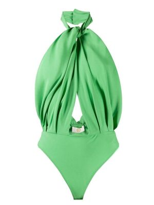 Green Halter Bodysuit