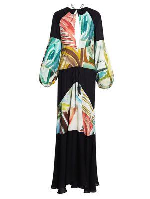 Bohemian Maxi Dress, Multicolor