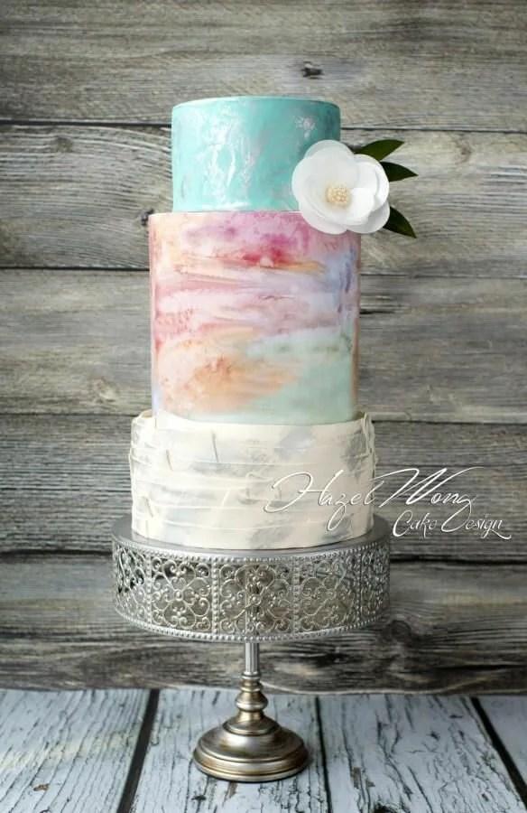 Wedding Cake Wednesday Watercolor Cakes