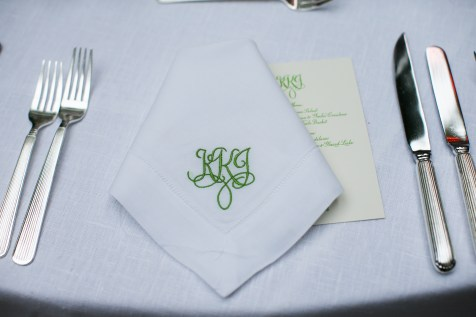 mongrammed place setting