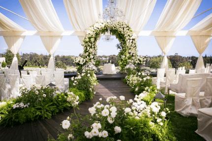 Lush Garden Ceremony by Debbie Geller
