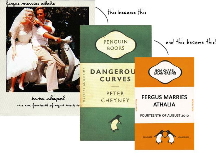 penguin books inspired wedding invitations