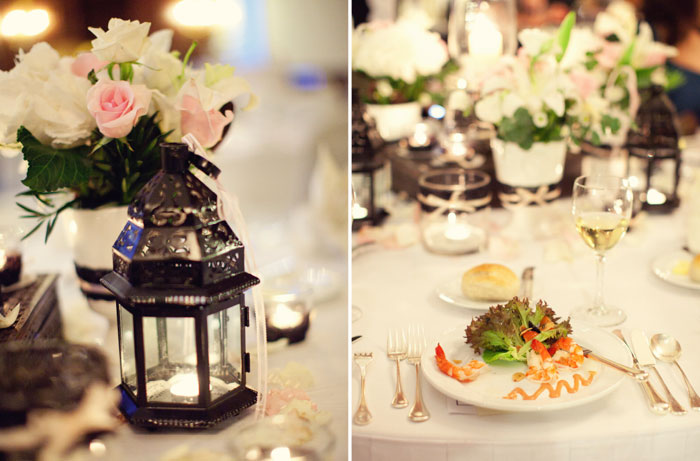 www.theweddingnotebook.com. Ndrew Photography. Blush Pink and Black wedding decor