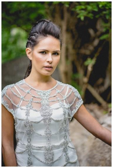 Embellished bridal top