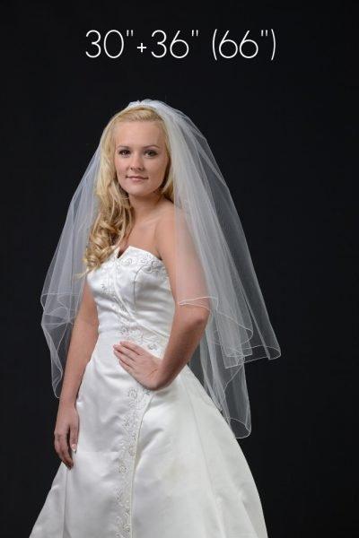 2 layer hip length veil