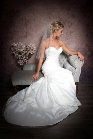 elbow length veil with diamantes