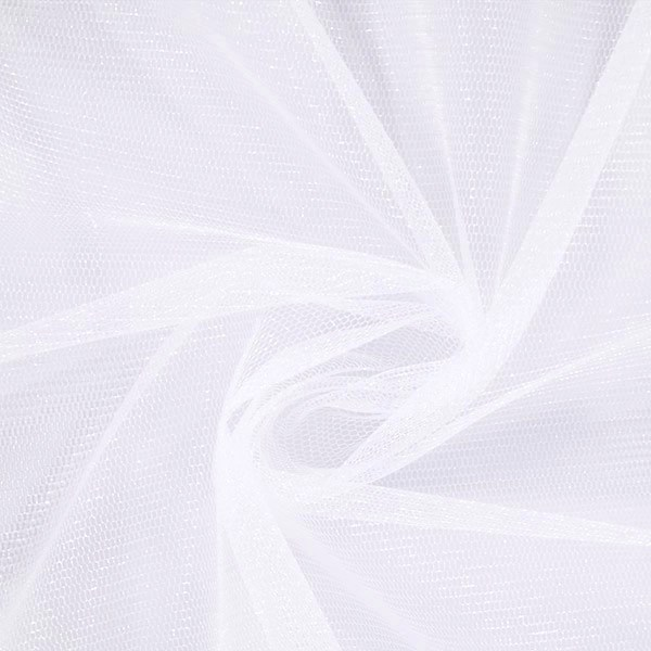 Veil Colours & Fabrics Guide - White Shimmer tulle