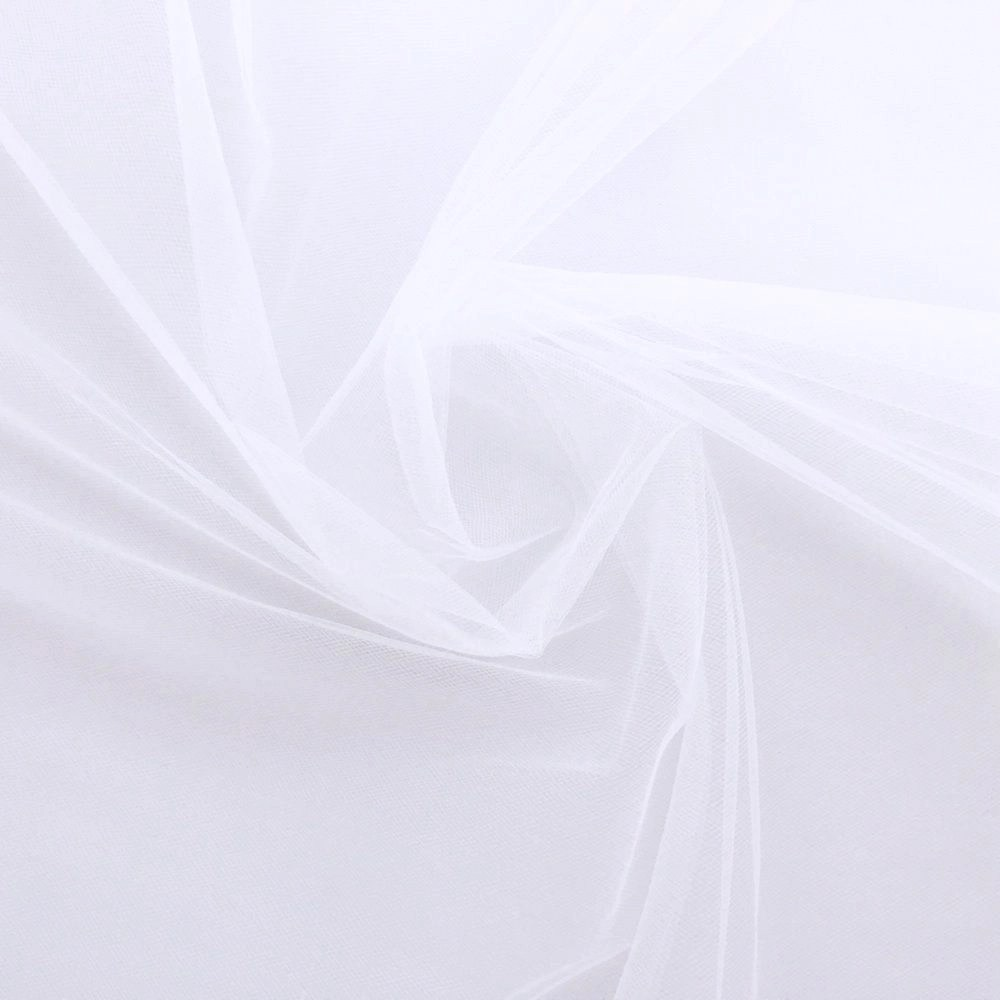 Veil Colours & Fabrics Guide - White tulle