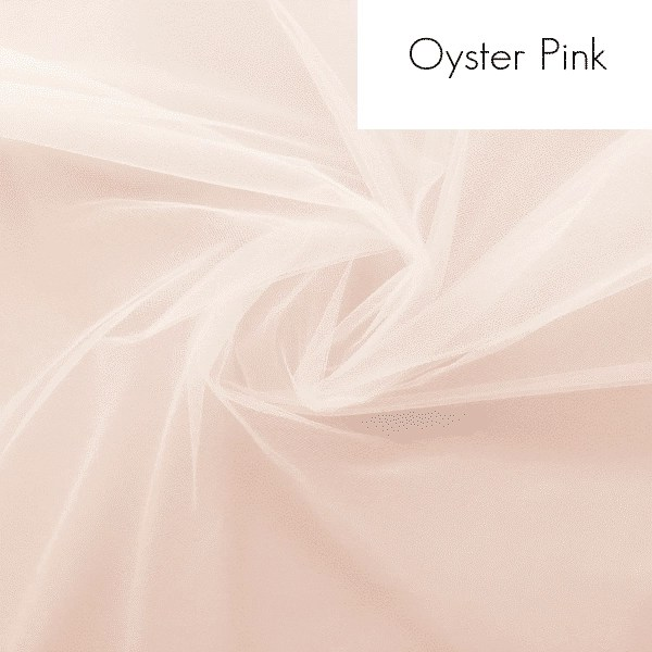 Oyster pink tulle for veils