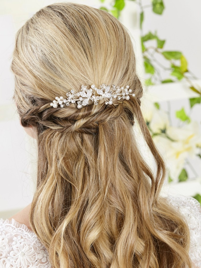 ar552 bridal hair comb for veils