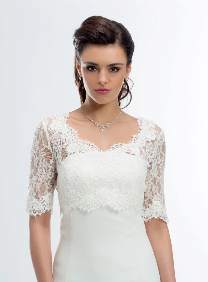 BB177 lace bridal jacket