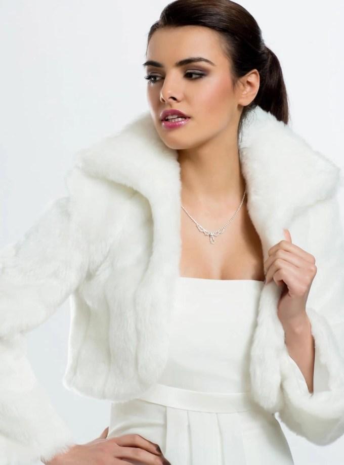 BB20 fur bridal jacket