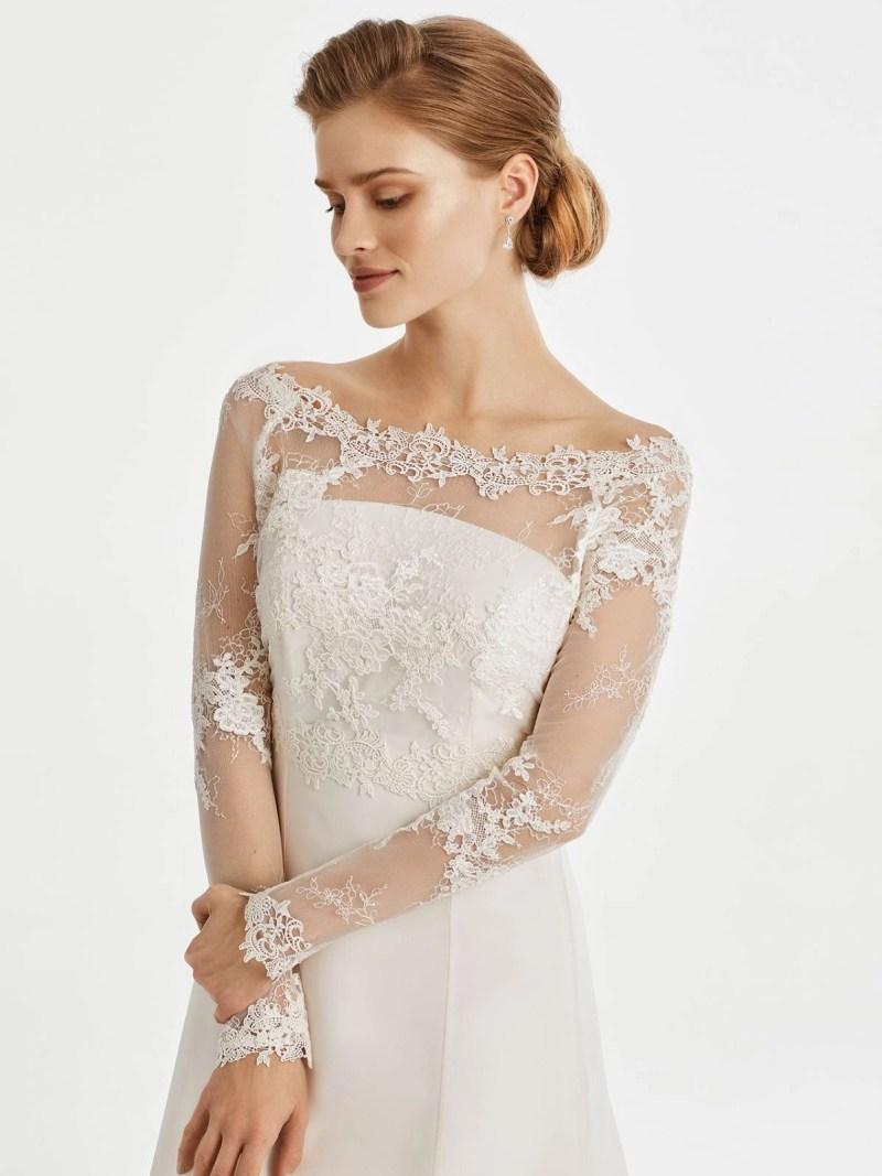 BB256 lace bridal jacket