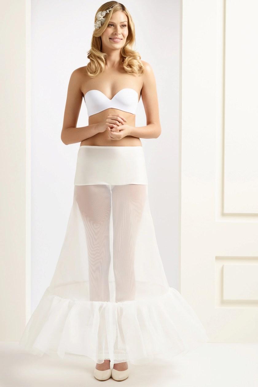 H1-220 BP1-220 wedding bridal underskirt petticoat with ruffle frill (1)