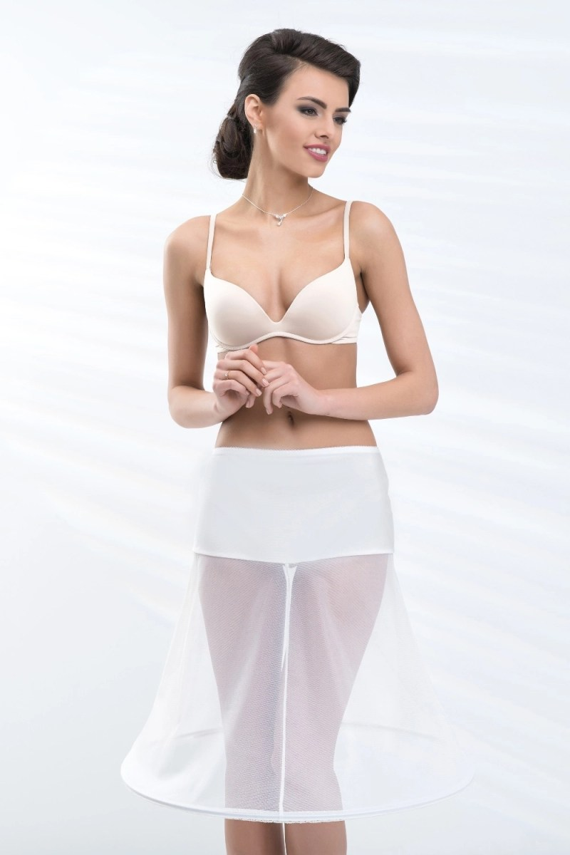 H21-180 BP21-180 short knee length wedding bridal underskirt petticoat with a hoop