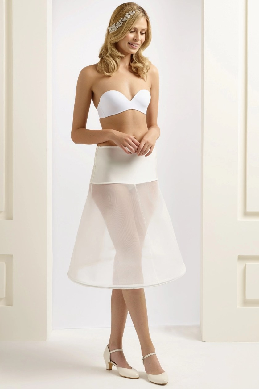 H21-180 BP21-180 short knee length wedding bridal underskirt petticoat with a hoop (1)