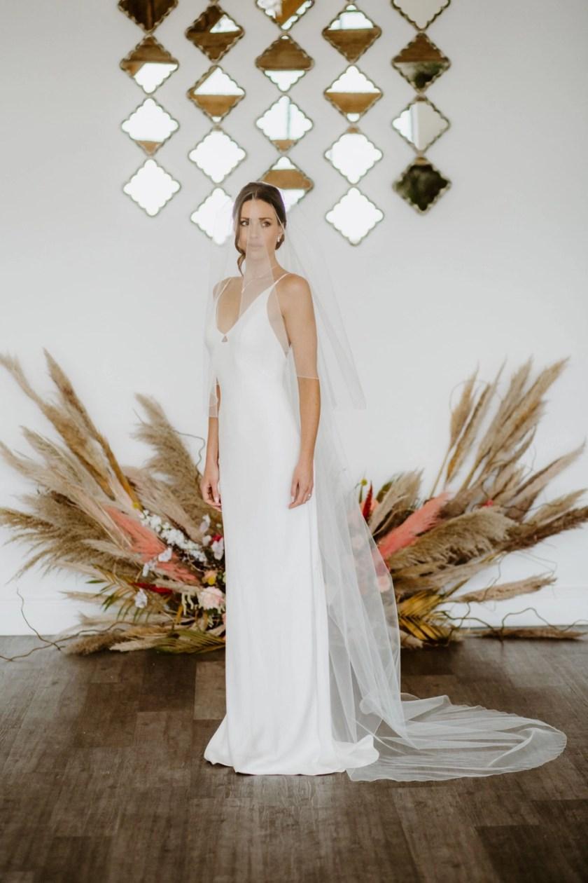 Paige – two layer chapel length wedding veil
