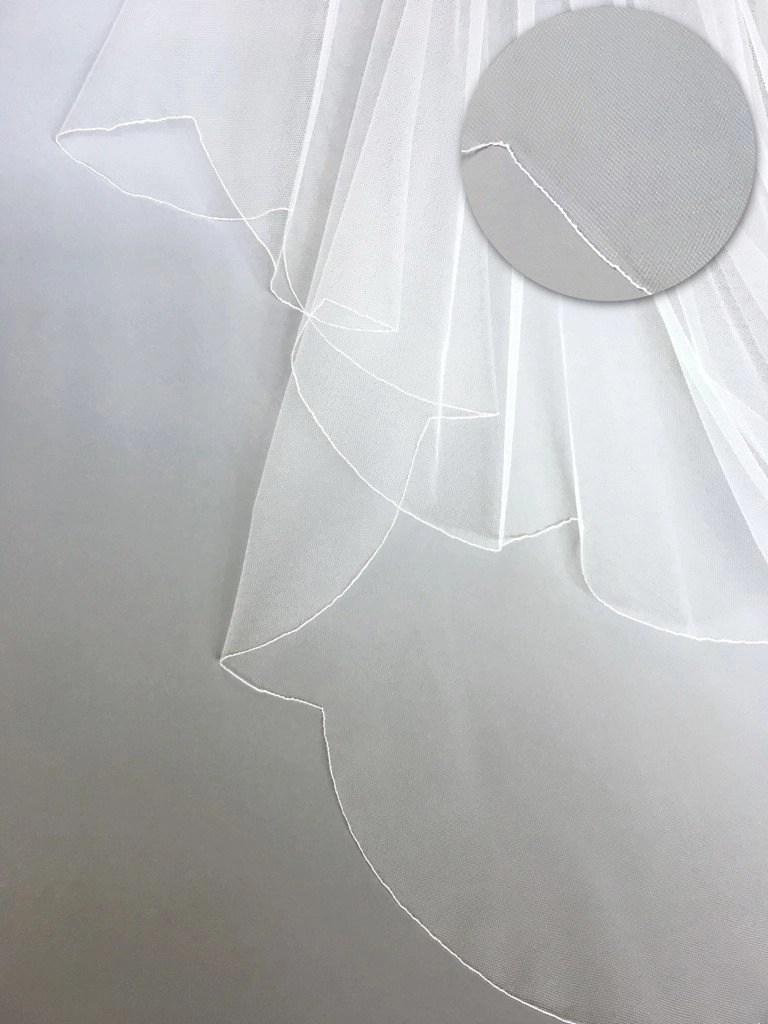 veil edge finishes - the scalloped edge