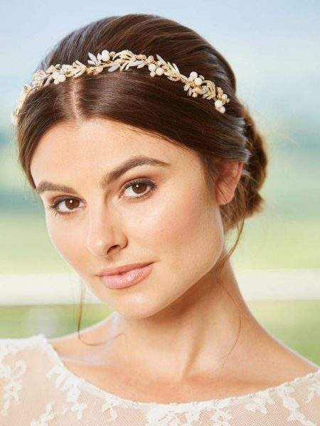 LT645 – blush pearl, opal and diamante bridal headband