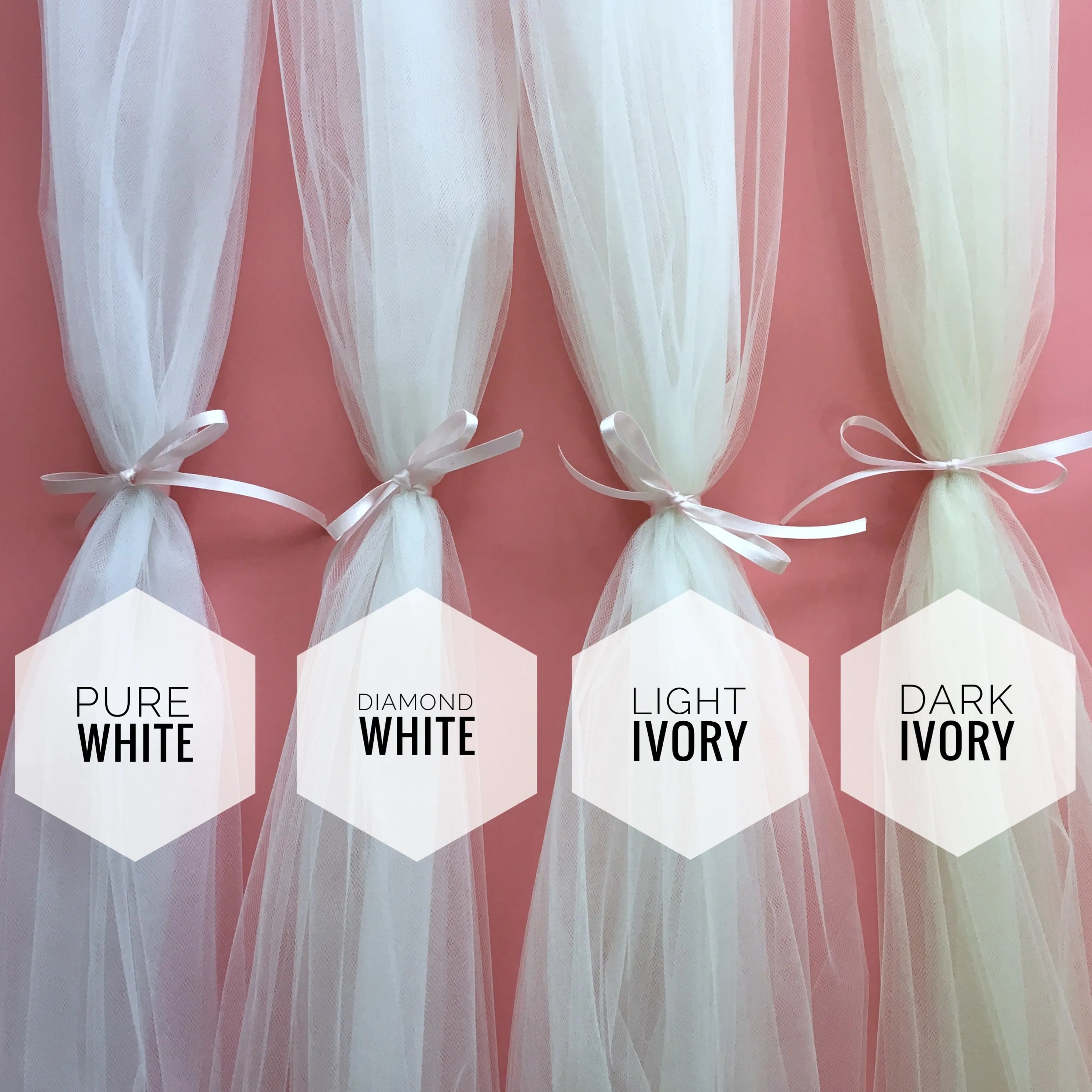 White to dark ivory - veil colour guide