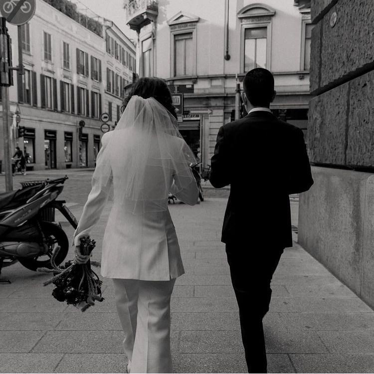 Charlie veil on real bride Natalia in Milano 1