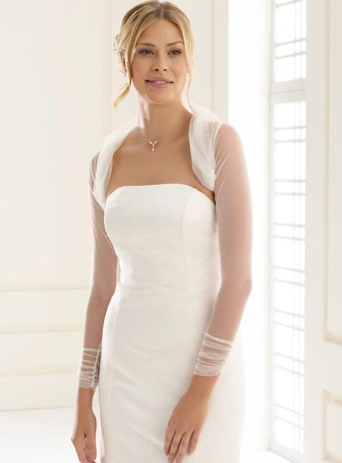 E122A tulle bridal bolero