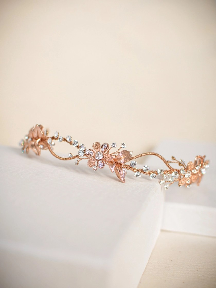 TLH3119 – Rose Gold Crystal Hair Accessory