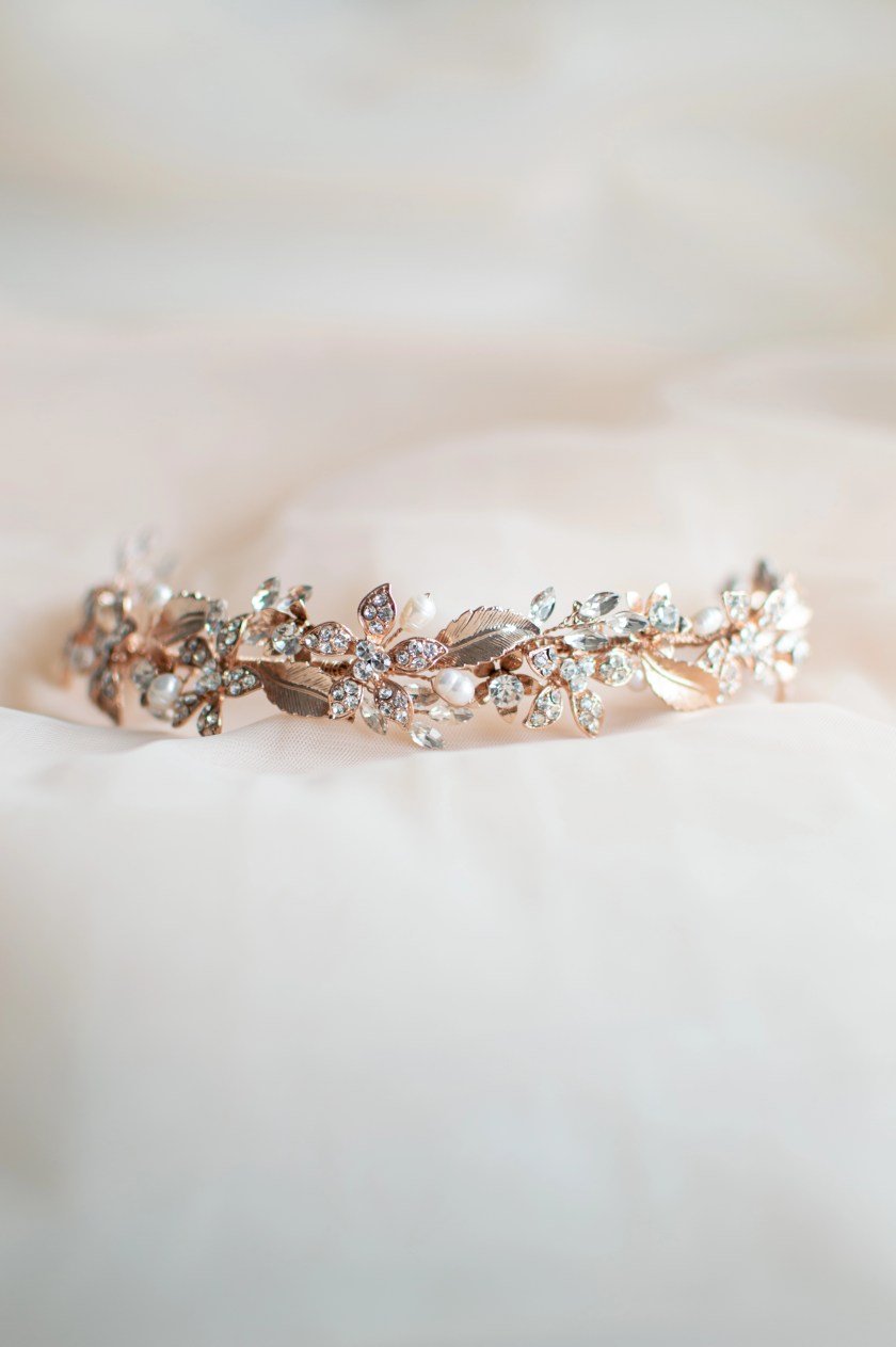 TLH3120 rose gold headpiece