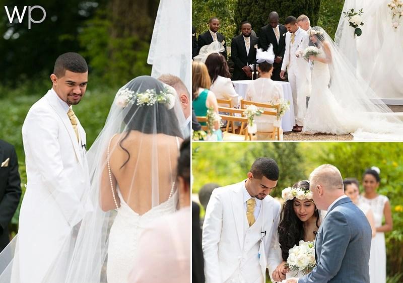 Abigail wears a 5m long mantilla veil