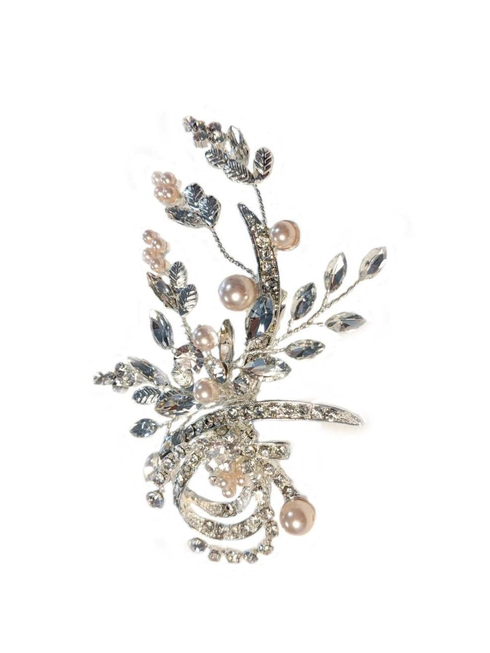 lp740 champagne pearl wedding hair accessory