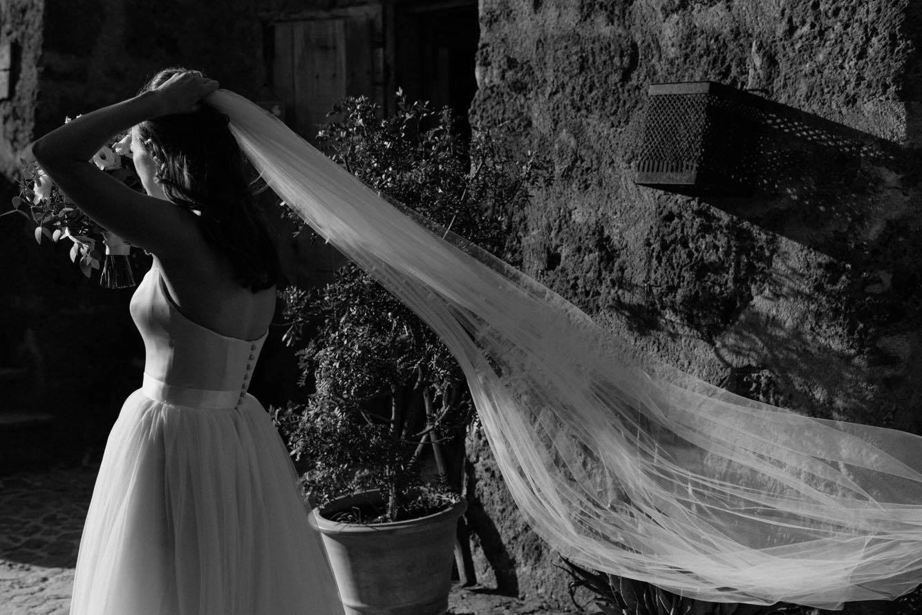 Emma McSorley wears popular wedding veil Brooke 7