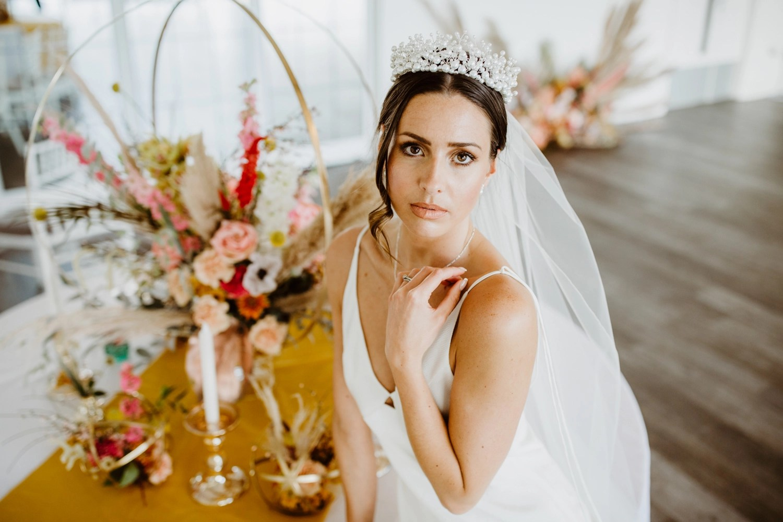 wedding veil shoot